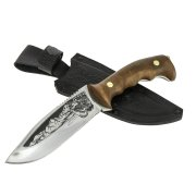 Разделочный нож Волк (сталь 65Х13, рукоять дерево) арт.6779