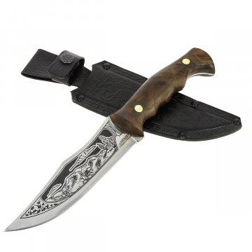 Разделочный нож Ягуар (сталь 65Х13, рукоять орех)