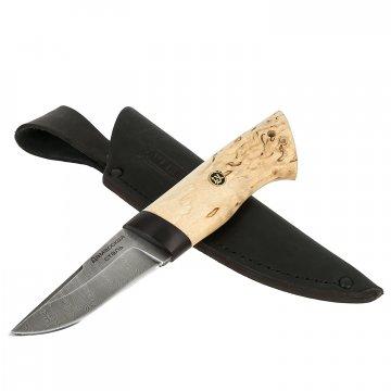 Нож Засапожный малый (сталь дамасская, рукоять карельская береза)