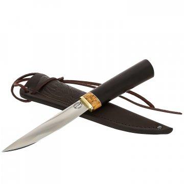Нож Якутский (сталь Х12МФ, рукоять черный граб)