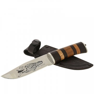 Нож Ш-4 Кизляр (сталь AUS-8, рукоять наборная граб, орех)
