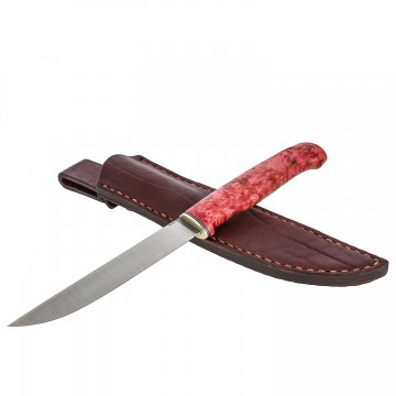 Нож Лиман (сталь M390, рукоять стабилизированная карельская береза)