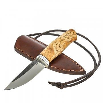 Нож Рыбка (сталь 110Х18, рукоять карельская береза, кориан)