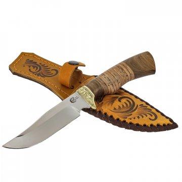 Нож Юнкер (сталь 65Х13, рукоять береста, орех)