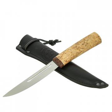 Нож Якут средний Левша (сталь Х12МФ, рукоять карельская береза)