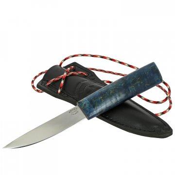 Шейный нож Якут (сталь Х12МФ, рукоять стабилизированный кап клена)