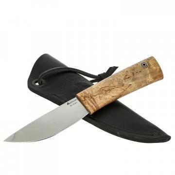 Шкуросъемный нож Якут (сталь N690, рукоять карельская береза)