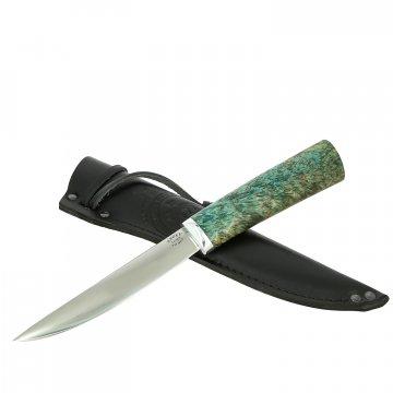 Нож Якут средний (сталь Х12МФ, рукоять стабилизированная карельская береза)