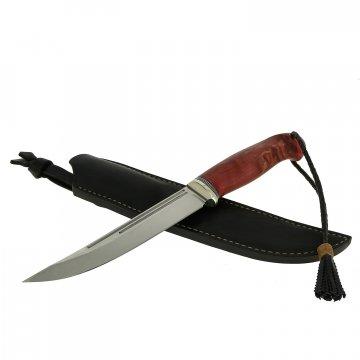 Нож Засапожный (сталь Х12МФ, рукоять стабилизированная карельская береза)