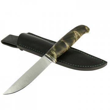 Нож Барбус (сталь D2, рукоять стабилизированный корень тополя)