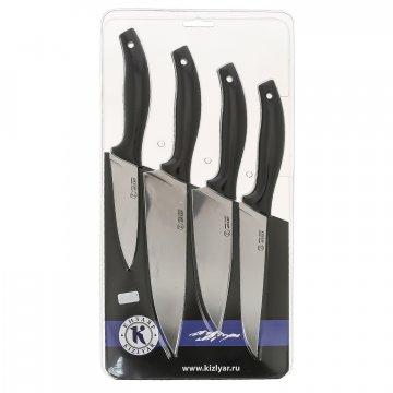 Набор кухонных ножей Квартет с магнитным держателем (сталь AUS-8, рукоять эластрон)