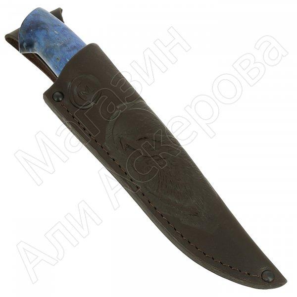 Нож Соболь (сталь D2, рукоять стабилизированная карельская береза)