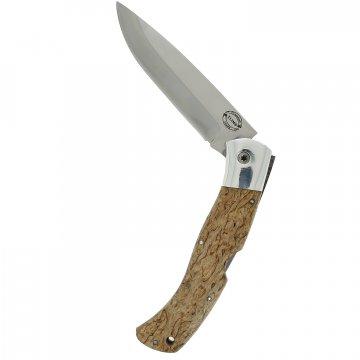 Складной нож Якутский (сталь Х12МФ, рукоять карельская береза)