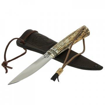 Нож Якутский средний (сталь Х12МФ, рукоять рог лося)
