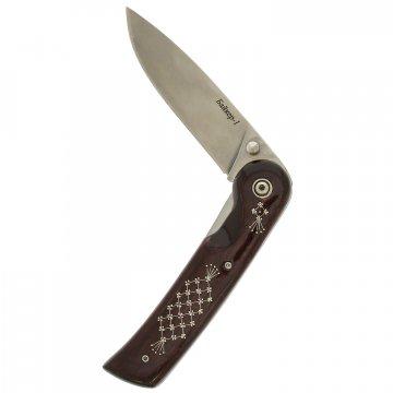 Складной нож Байкер-1 Унцукуль (сталь AUS-8, рукоять дерево)