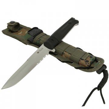 Нож Alpha (сталь D2 SW серрейтор, рукоять кратон)