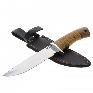 Нож Тигр (сталь 65Х13, рукоять орех, береста)