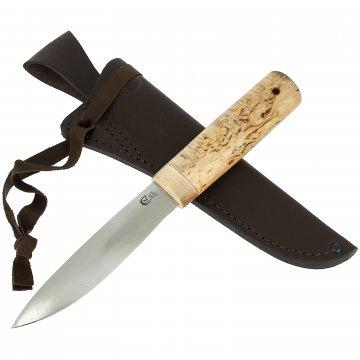 Нож Якутский средний (сталь 95Х18, рукоять карельская береза)
