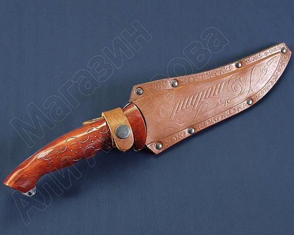 Разделочный нож большой Грифон (сталь 65Х13, рукоять дерево)