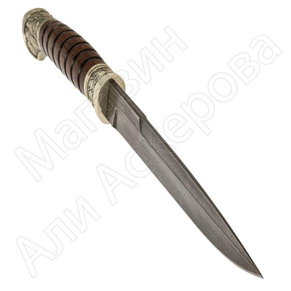 Нож пластунский Витязь (сталь алмазная ХВ5, рукоять венге, худож. литье)