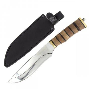 Разделочный нож Охотник (сталь 65Х13, рукоять дерево)