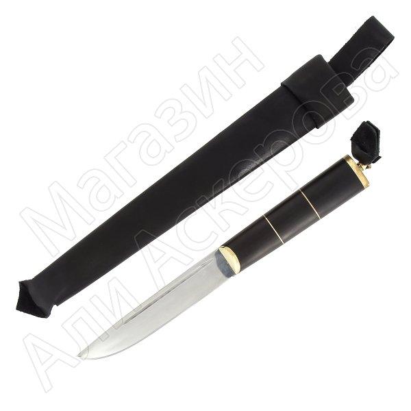 Нож Абхазский Кизляр средний (сталь AUS-8, рукоять черный граб)