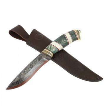 Нож Беркут (дамасская сталь, рукоять карельская береза)