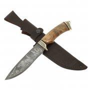 Нож Близнец (дамасская сталь, рукоять орех)
