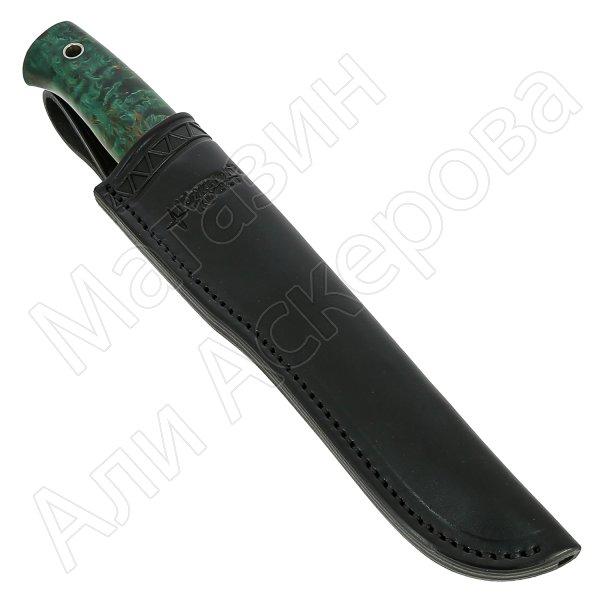 Нож Боровой М (сталь Elmax, рукоять стабилизированная карельская береза)