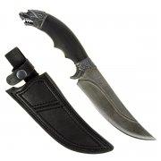 Кизлярский нож разделочный Жало (дамасская сталь, рукоять черный граб)