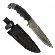 Кизлярский нож разделочный Сафари-1 (дамасская сталь, рукоять черный граб)