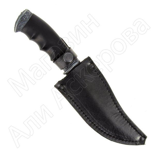 Кизлярский нож разделочный Мустанг (дамасская сталь, рукоять черный граб)