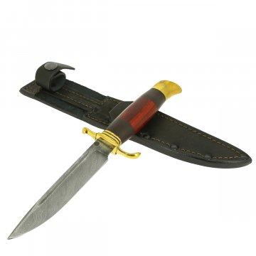Нож Финка НКВД (дамасская сталь, рукоять черный граб, падук)