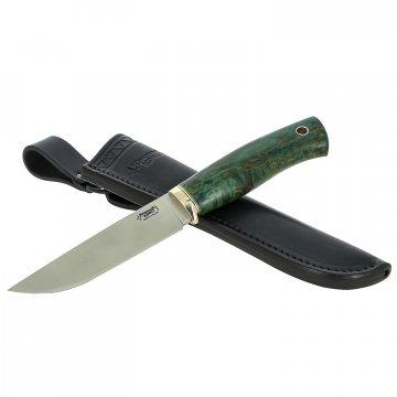 Нож Гризли (сталь Elmax, рукоять стабилизированная карельская береза)