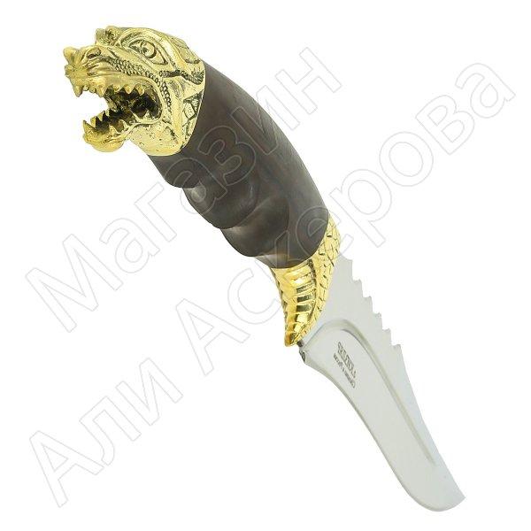 Нож Хищник (сталь 65Х13, рукоять черный черный граб)