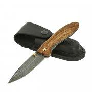 Складной нож Колонок (дамасская сталь, рукоять орех) арт.11516