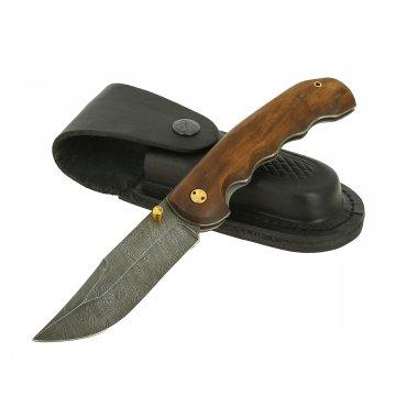 Складной нож Ловкий (дамасская сталь, рукоять орех)
