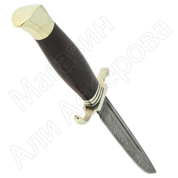Нож НКВД (сталь дамасская, рукоять - черный граб) арт.11426