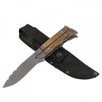 Нож Оборотень Саро (сталь AUS-6, рукоять дерево, мультитул)