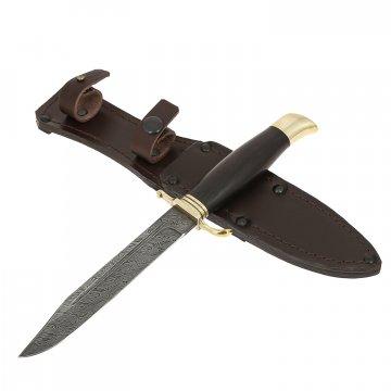 Нож Разведчик (сталь дамасская, рукоять граб)