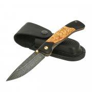 Складной нож Сормовский (дамасская сталь, рукоять черный граб, карельская береза)