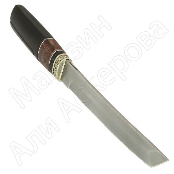 Нож Танто (сталь Bohler K340, рукоять - карельская береза, граб) арт.11389