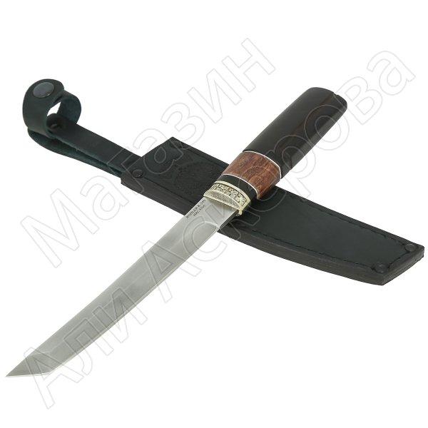 Нож Танто (сталь Bohler K340, рукоять - карельская береза, граб)