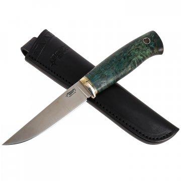 Нож Удобный (сталь M390, рукоять стабилизированная береза)