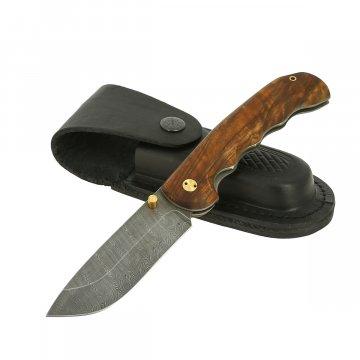 Складной нож Верный (дамасская сталь, рукоять орех)