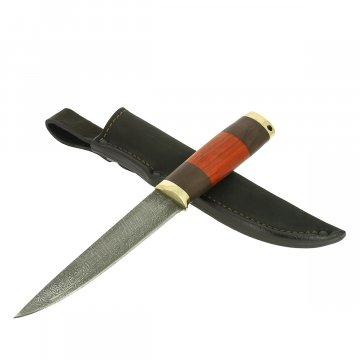 Нож Якутский (дамасская сталь, рукоять черный граб, падук)