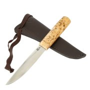 Нож Якутский (сталь Х12МФ, рукоять карельская береза)