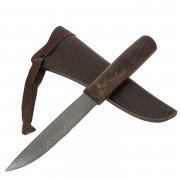 Нож Якутский (сталь дамасская, рукоять венге)