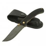 Cкладной нож Ястреб (дамасская сталь, рукоять черный граб) арт.11513