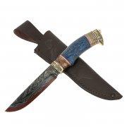 Нож Ястреб (дамасская сталь, рукоять карельская береза)